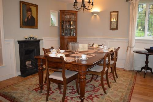 Dining room at Cowleigh Park Farm
